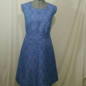 J.CREW Light Blue Textured Sleeveless Dress Size 8